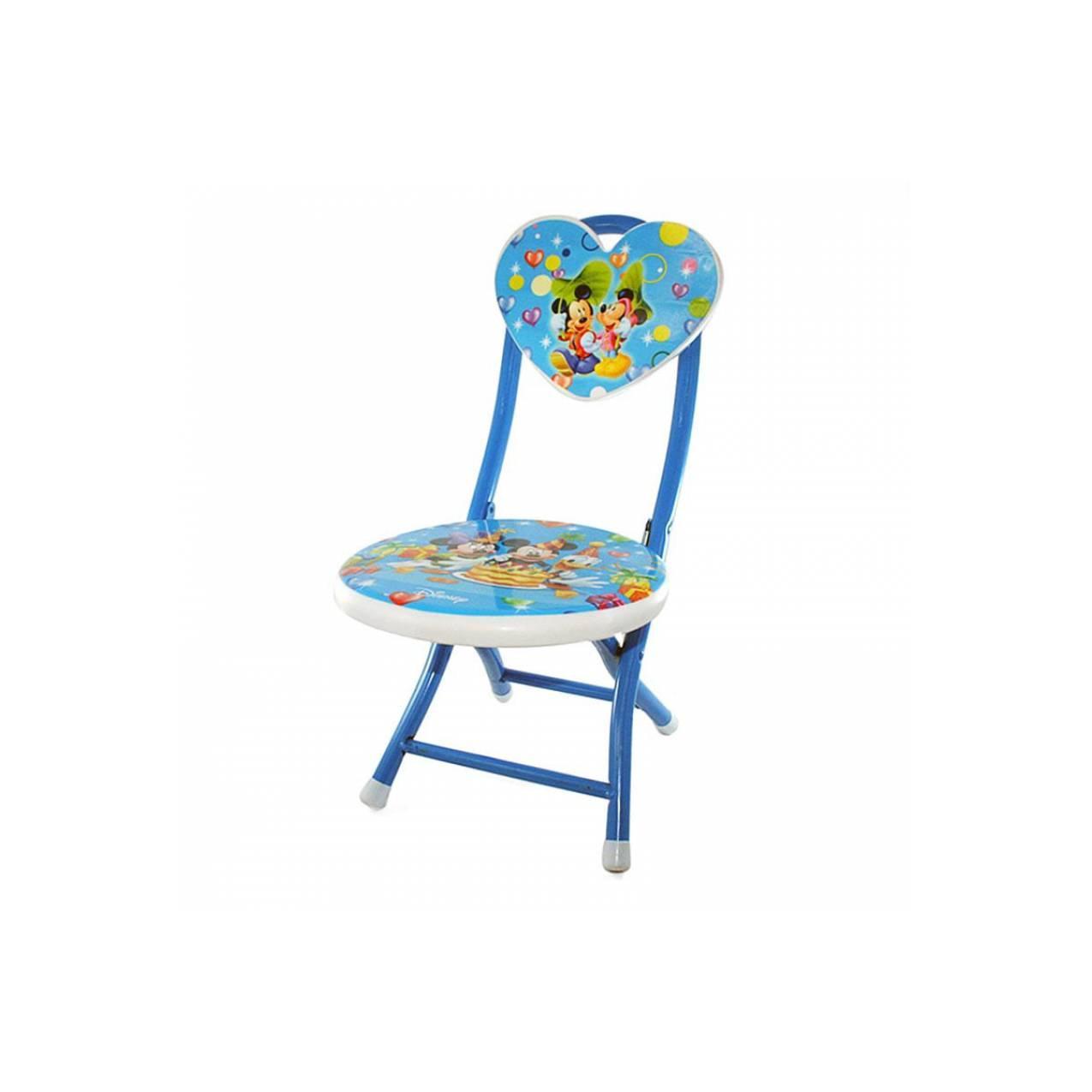 OHOME Kursi Lipat Besi ZZMS Stool Folding Chair Mickey Mouse - Biru