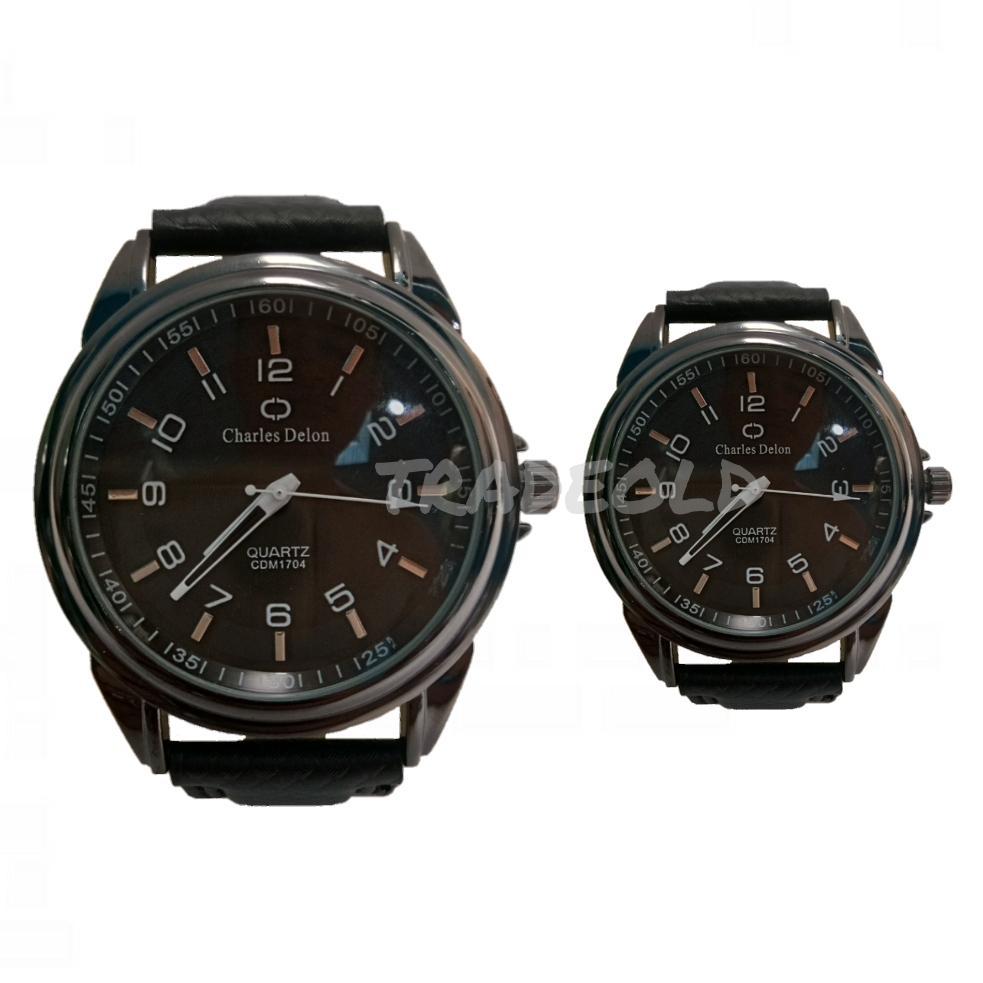 Charles Delon Jam Tangan Couple Fashion Unisex - Strapp Leather