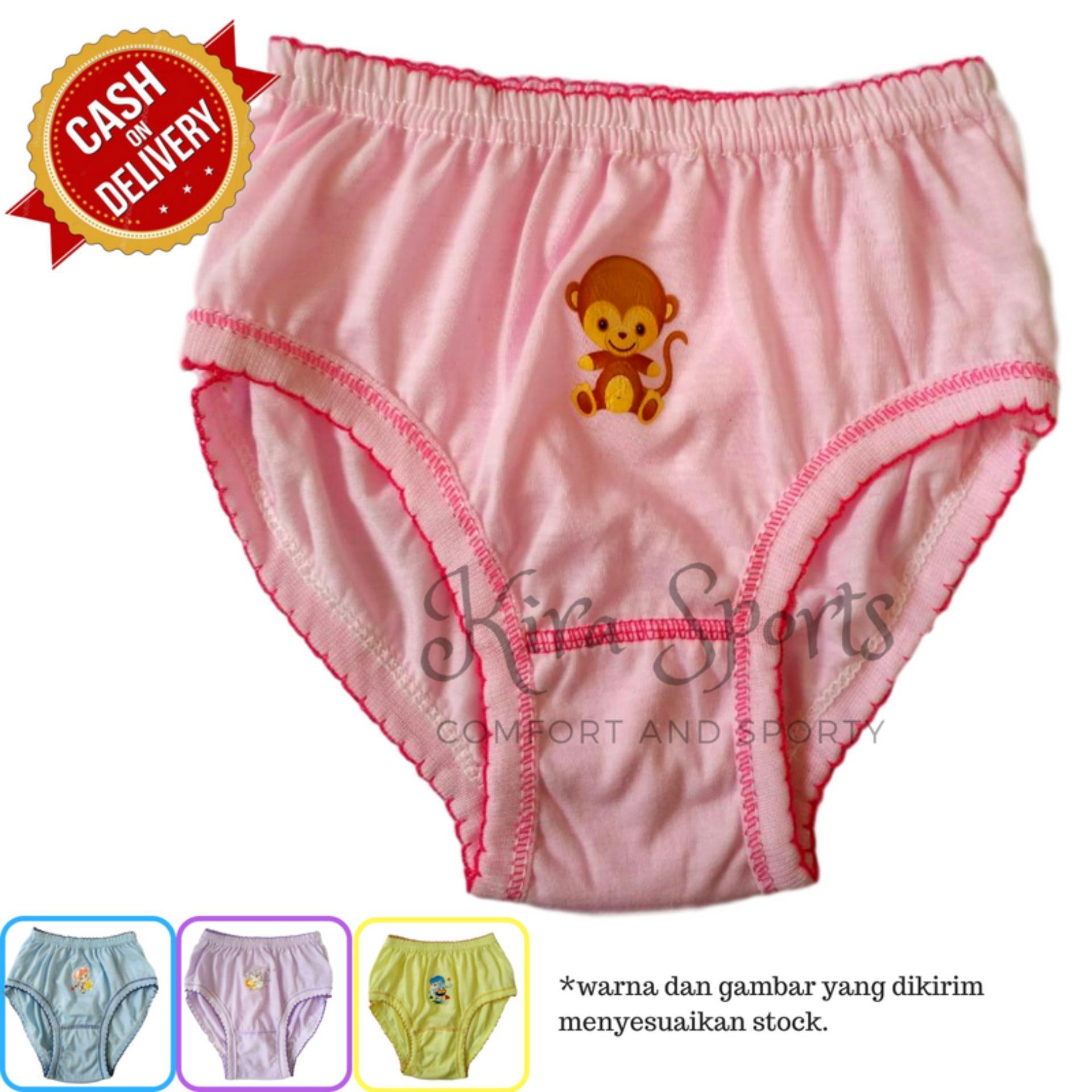 Kira Sports Celana Dalam Anak Perempuan / Aneka Bawahan Cewek Motif Kartun Karakter Lucu Terbaru Untuk Anak-anak dan Balita / Bukan Merk Sorex Jumbo Transparan G-string Boxer Bunga dan Untuk Ibu hamil / Dalaman Wanita Bahan Katun Murah ANK71602 - Bisa COD
