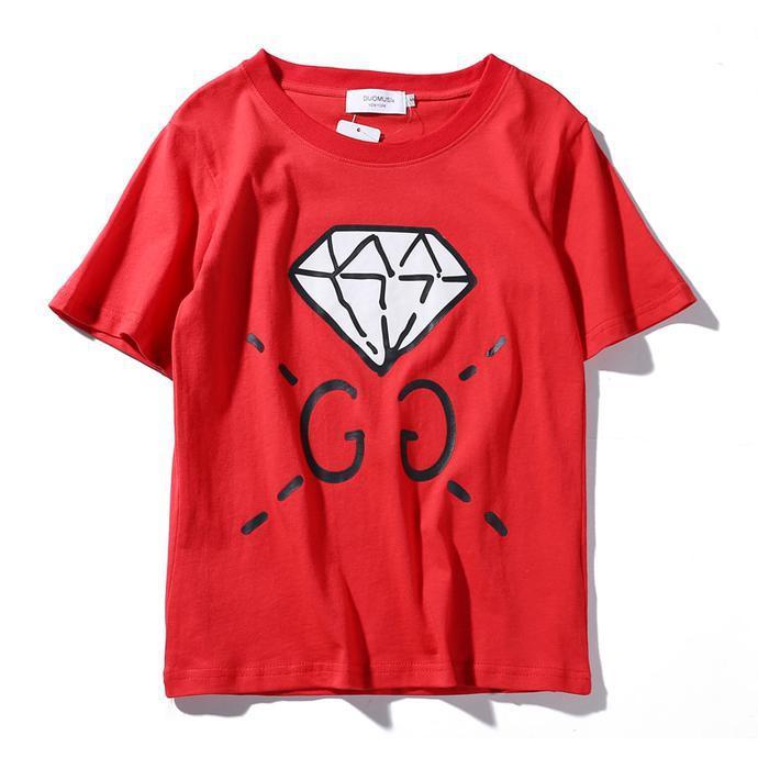 Tshirt Kaos Branded Pria Premium Gucci Diamond Mirror Quality - Jfjwl4