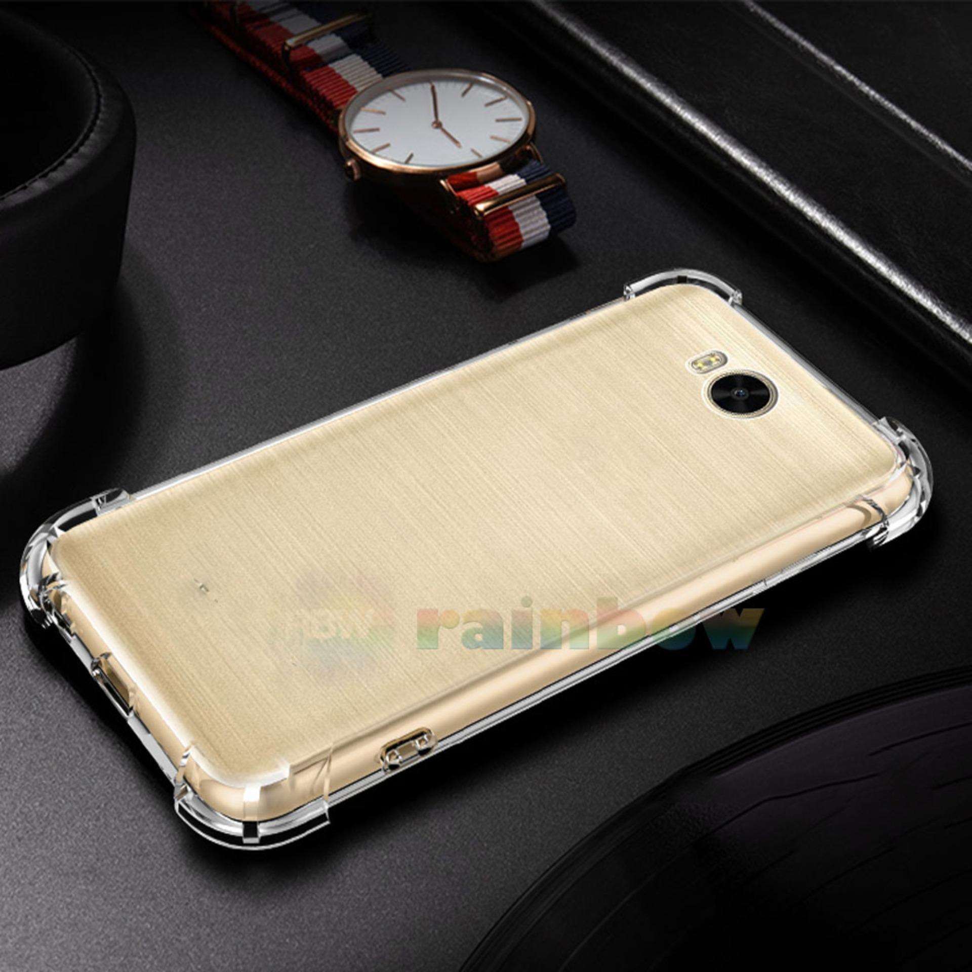 Rainbow Case Anti Crack Huawei Y5 2017 Transparan Soft Case Anti Shock Y5 2017 Huawei / Softshell Shockproof / Ultrathin Huawei / Silikon Casing  Huawei Clear