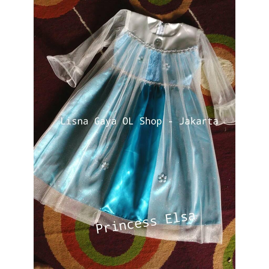 Gaun Pesta/ Dress Elsa/ Dress Anak Ulang Tahun