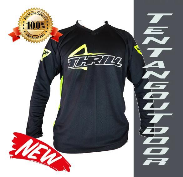 harga PREMIUM Jersey Downhill Cross Sepeda DH THRILL Baju Kaos F003 MTB Motor Touring BMX Lazada.co.id