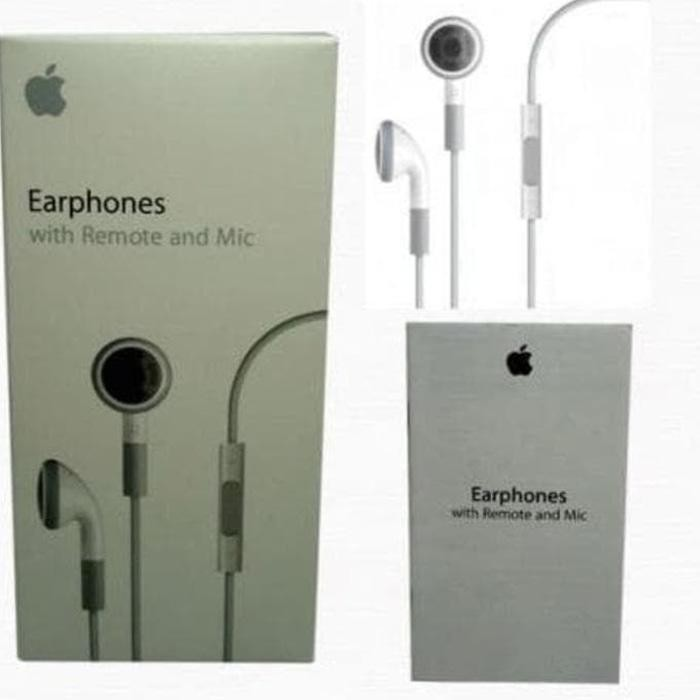 BEST SELLER - JUAL APPLE IPOD - IPHONE - IPAD EARPHONES WITH REMOTE