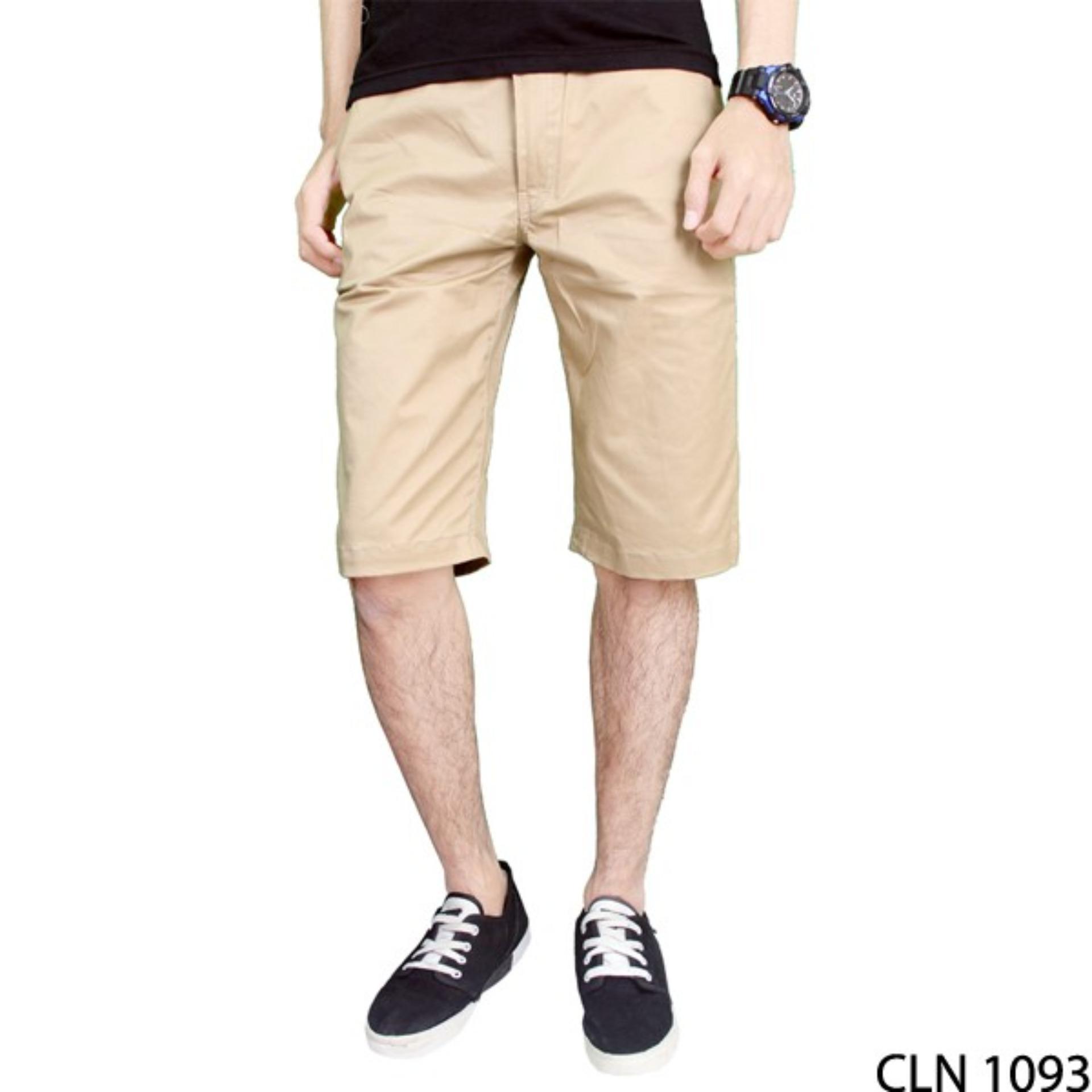Gudang Fashion - Celana Pendek Chino Pria - Cream