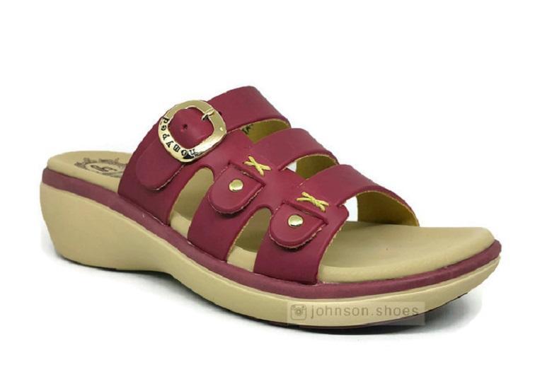 [ Johnson Shoes ] Sendal / Sandal Wedges Kulit Wanita HOMYPED - VALENTA N53 100% ORIGINAL