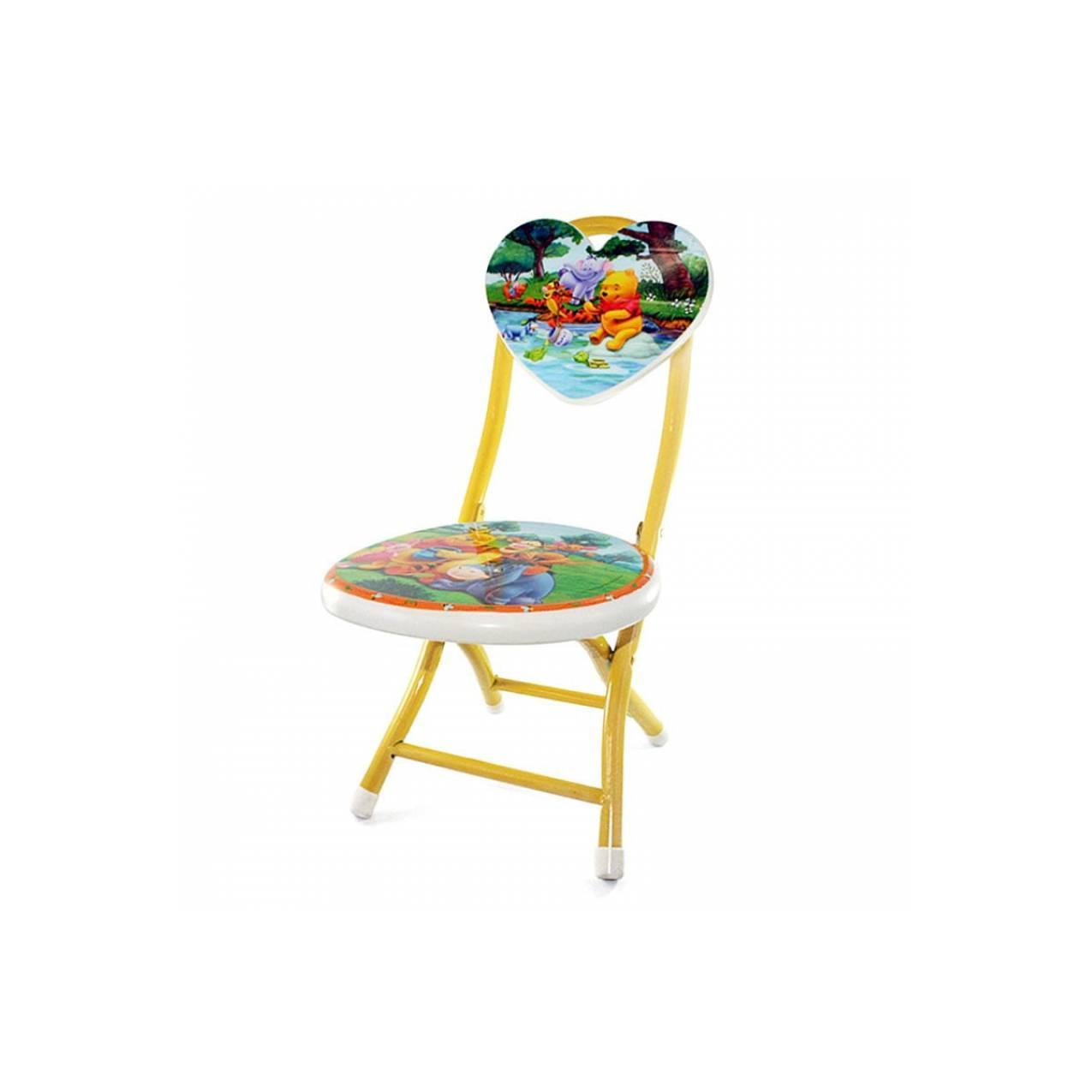 OHOME Kursi Lipat Besi ZZ-MS Stool Folding Chair - Winnie the Pooh