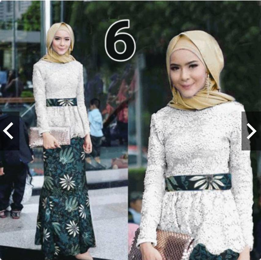 IndonesiaHeritage Setelan Kebaya Pesta Modern Brukat - Setelan Batik Pesta Wanita Brukat - Wisuda - Fashion Busana Kondangan Muslimah Muslim Wanita - Gamis Pesta Kebaya - Gaun pesta Party Maxi Dress Brukat Brokat ihadelia