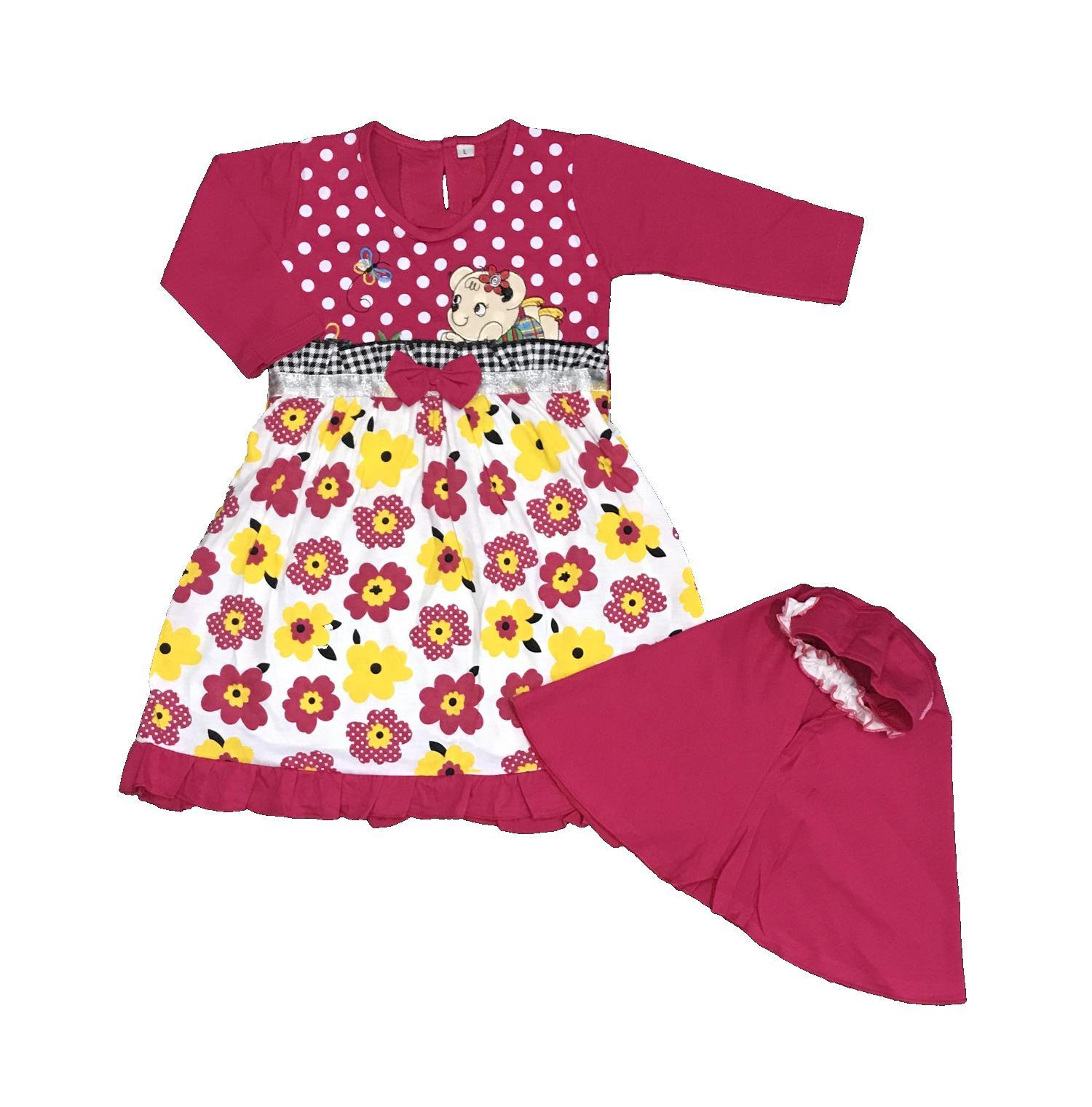 BAYIe - Baju Muslim Anak / Bayi Perempuan motif BUNGA YUNISA / Gamis anak cewek umur 1 - 2 tahun