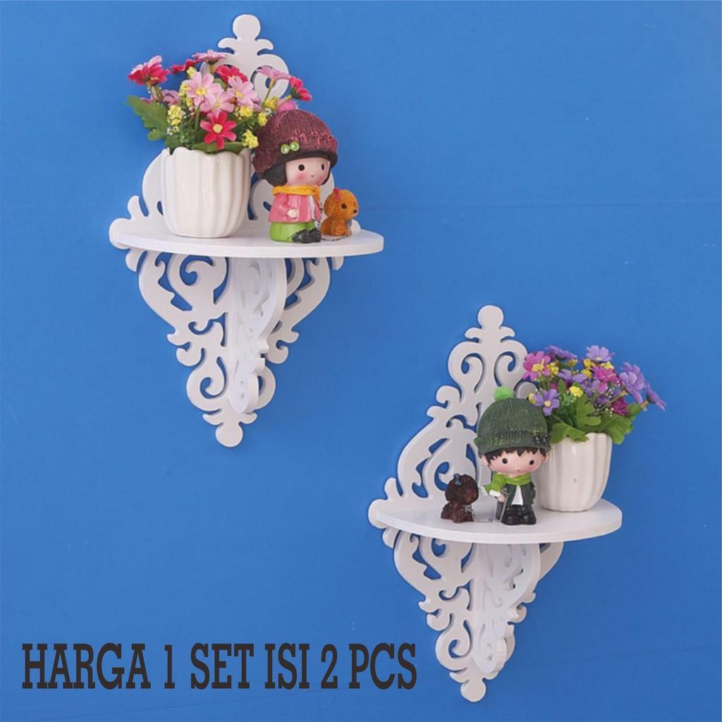 Decorative Rack rak Shabby chic vintage (1set isi 2) KECIL M537