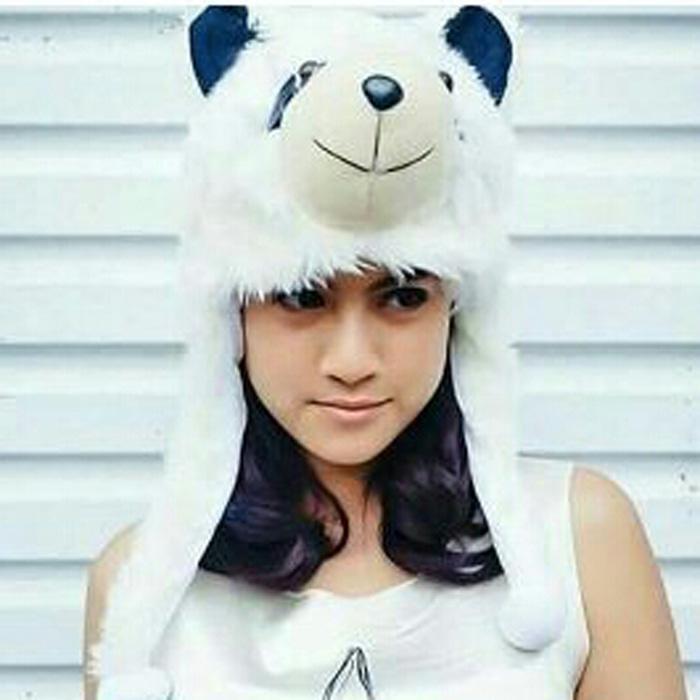 topi boneka panda  ukuran dewasa lucu unik kaldo ultah PROMO