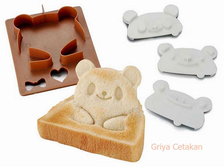 ... Griya Cetakan Bento Bear Frog & Panda Bread Cutter ...