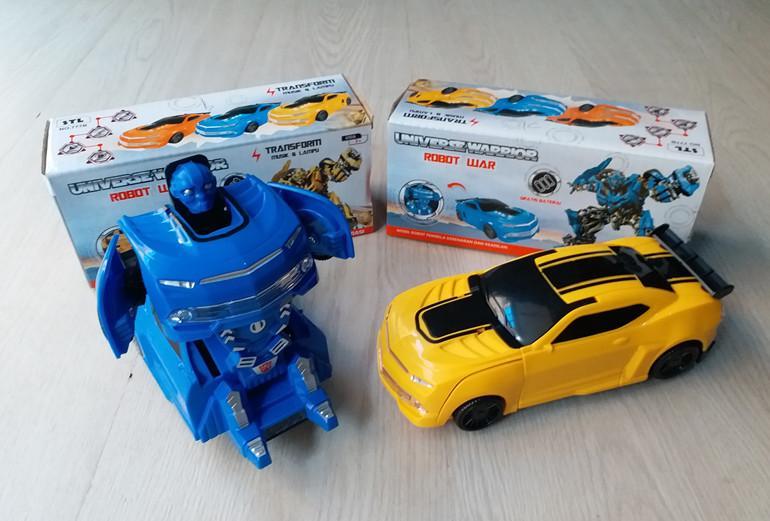 MAINAN MOBIL UNIVERSE WARRIOR 2IN1 ROBOT TRANSFORMER BUMBLE BEE