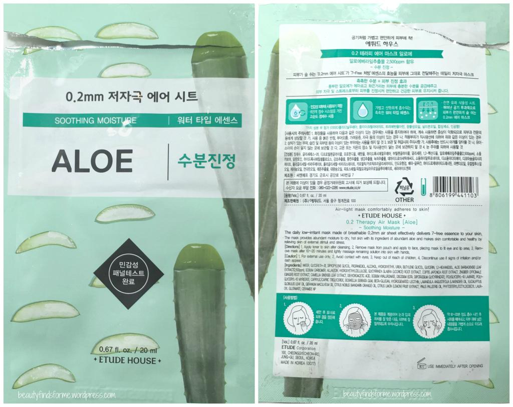 Etude House 02 Therapy Air Mask Mix 3 Produk Terbaik Wiki Harga Pcs 02mm Sheet Aloe