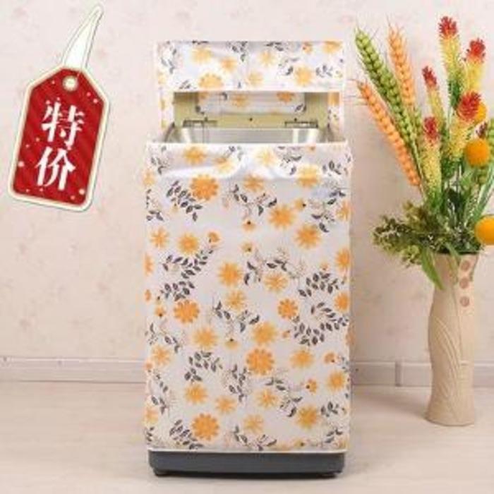 Type A Cover Mesin Cuci New Satin Buka Atas Bahan Satin Tebal 1 Tabung