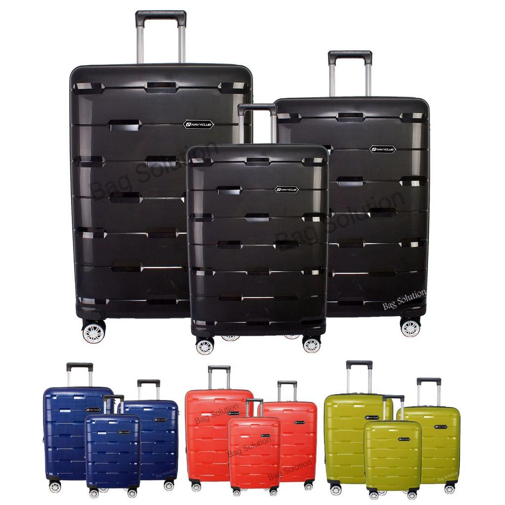 Navy Club Tas Koper Set Hardcase Fiber Pp 4 Roda Resleting Anti Passport 24 Inci 10136882 Source