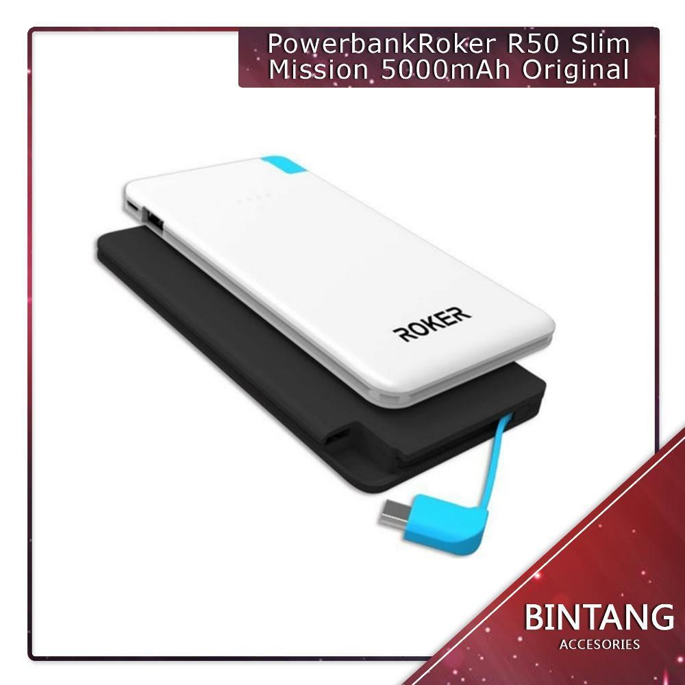 Murah Meriah Powerbank Power Bank Roker R50 Slim Mission 5000mAh Original di lapak Bintang Acc bintangacc620