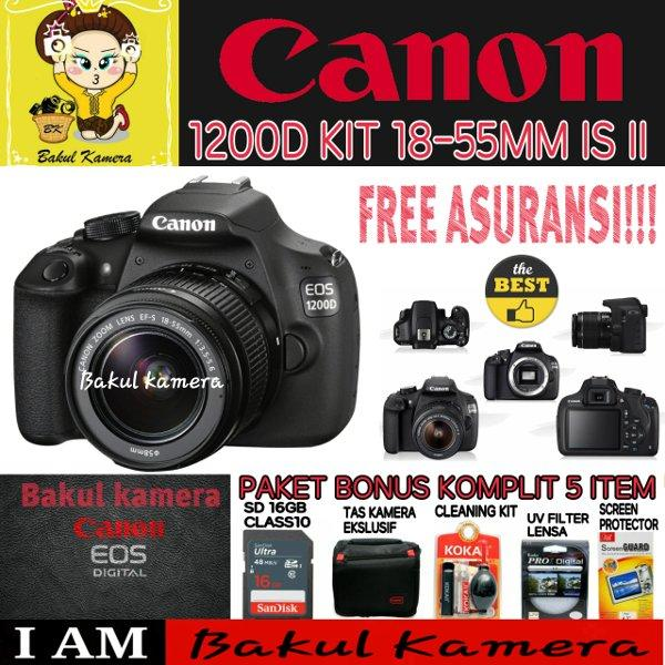 Canon EOS 1200D Kit 18-55 III - 18MP - Hitam