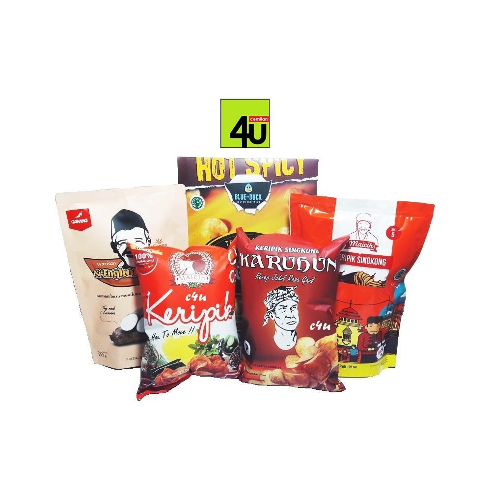 Maicih Axl Keripik Singkong Pedas Paket 5 Bks Spec Dan Daftar Merah C4u Mix Item