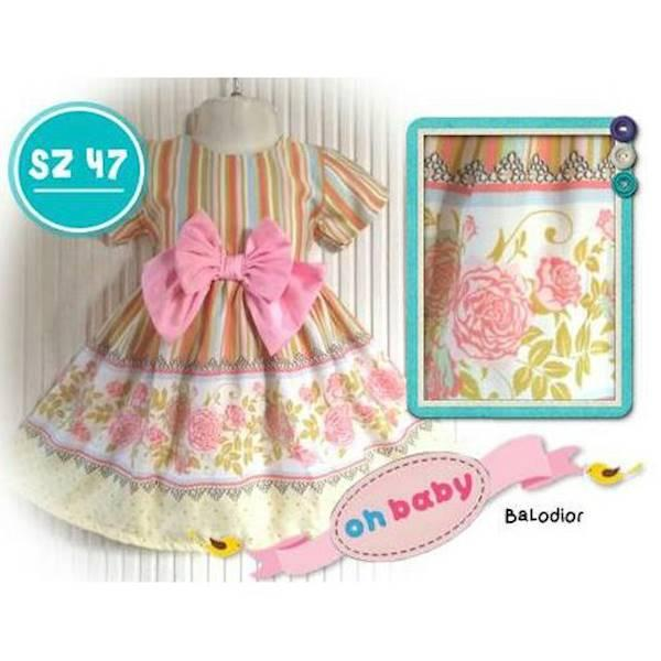 PROMO SALE - DRESS BAJU PESTA ANAK CUTETRIK OHBABY 2-7 TH SZ 47  F001