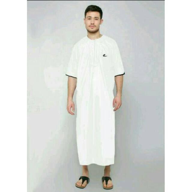 JUBAH ARABI - Pakaian Muslim Gamis Pria Lengan Pendek Al-Isra