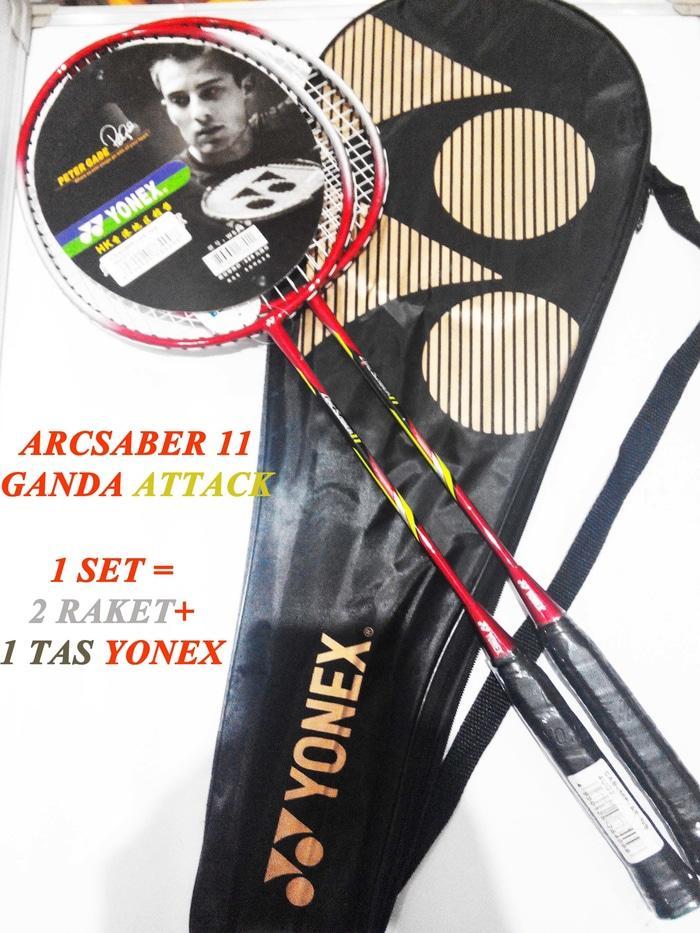 Raket Badminton Yonex Arcsaber 11 Ganda ( ganda =1 set = 2 pcs ) ...
