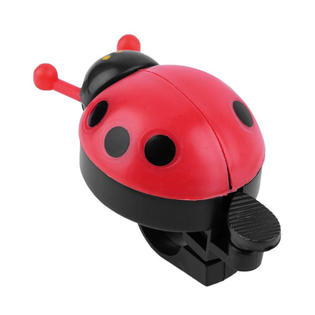 LALOVE Lovely Kid Beetle Ladybug Ring Bell For Cycling Bicycle Bike Ride Horn Alarm Red