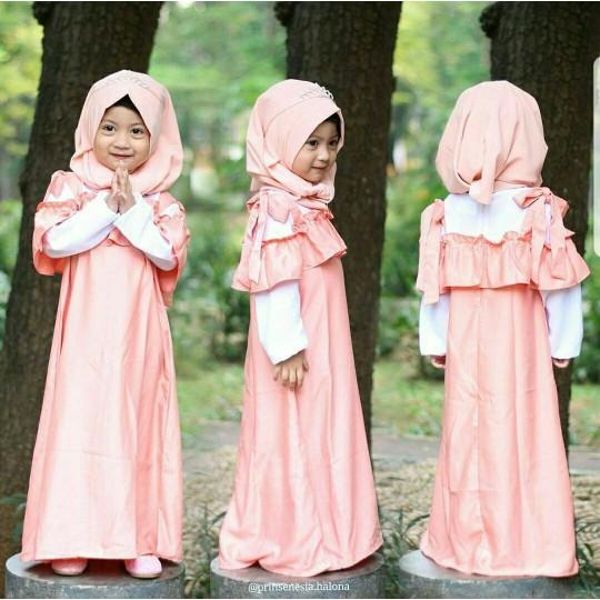 Nayara Kid Navy Salem Busana Muslim Anak Gamis Anak Terbaru