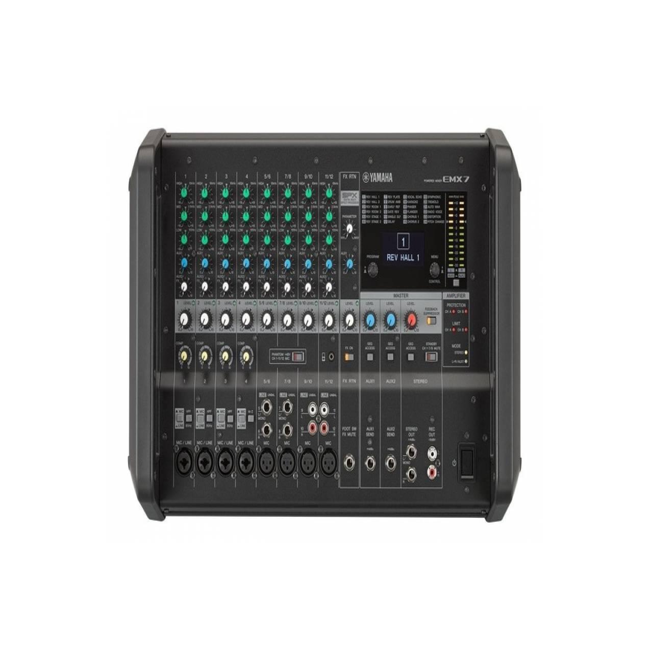 Dusen Berg Power Mixer 12 Channel Pmx 1202d Daftar Harga Terkini Original Yamaha Emx 7