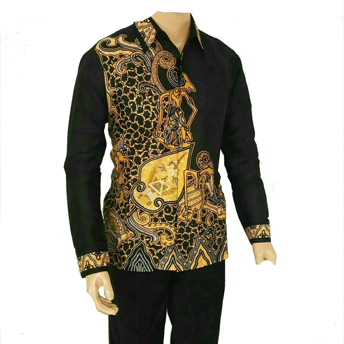 Desain Baju Batik Pria Modern Lengan Panjang | Klopdesain