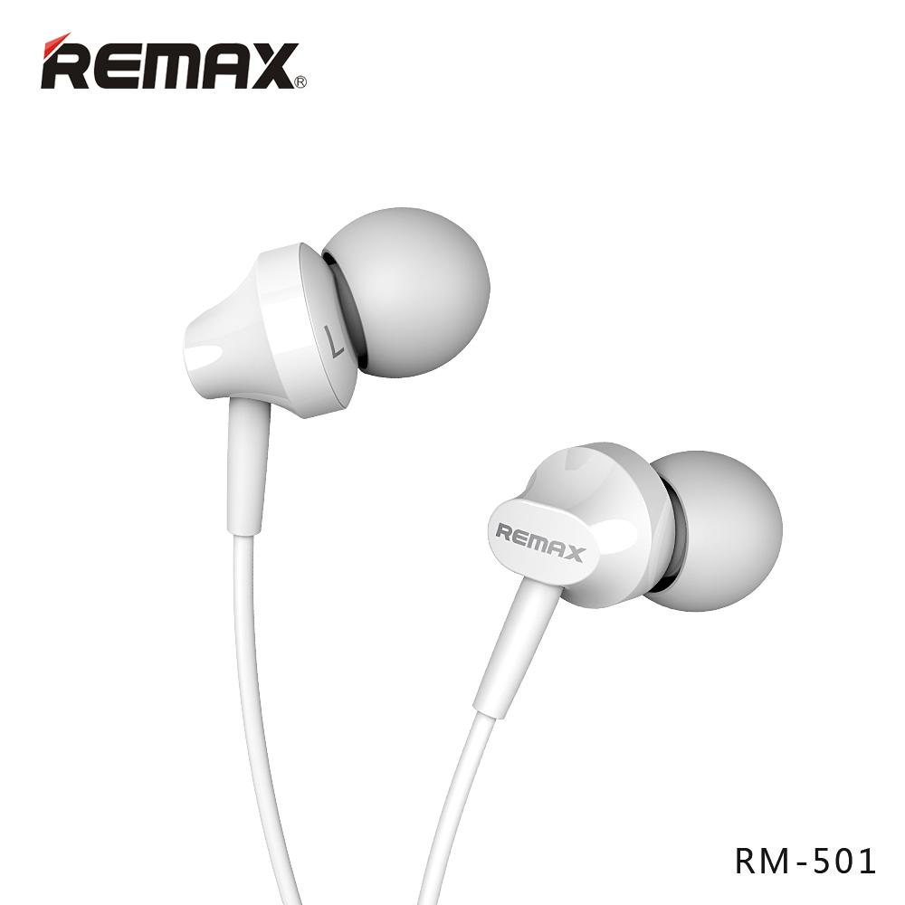 REMAX Earphone/Headset RM-501 Untuk Samsung S8, Xiaomi 4x, Mi 8, Note 8, Iphone X, Iphone 8, Oppo F5, Vivo V9