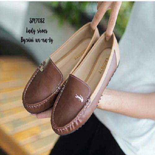 Sepatu Flat Shoes Wanita Crocodile SDB99 Coklat