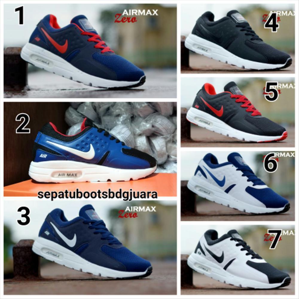 Cek Harga Baru Promo Sepatu Kets Casual Olahraga Nike Airmax Pria Sport Wanita Hitam Biru Navy Abu Grey Putih Fashion