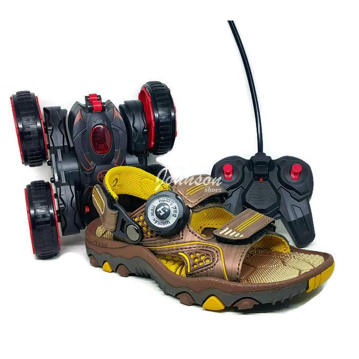 [ Johnson Shoes ] Sendal / Sandal Gunung Anak HOMY PED - BLITZ 02 Navy dan Brown 100% ORIGINAL Berhadiah MOBIL MAINAN PREDATOR