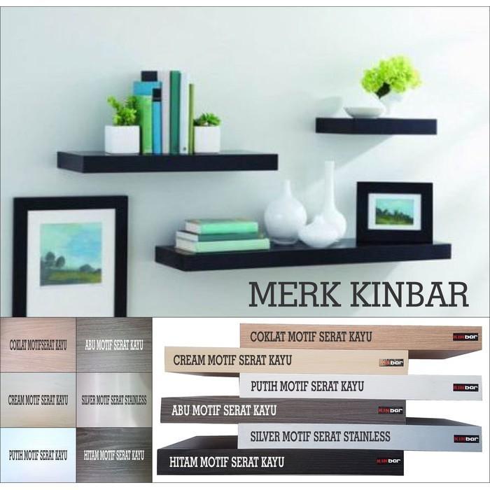 (JNH Shop)  60X20x4cm Rak Dinding/Ambalan/Melayang/Floating Shelf MERK KINBAR A395