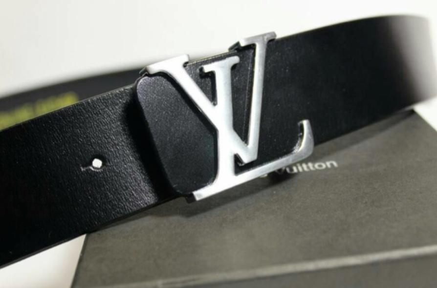 ikat pinggang LV to pria dan wanita sabuk gesper belt kulit asli