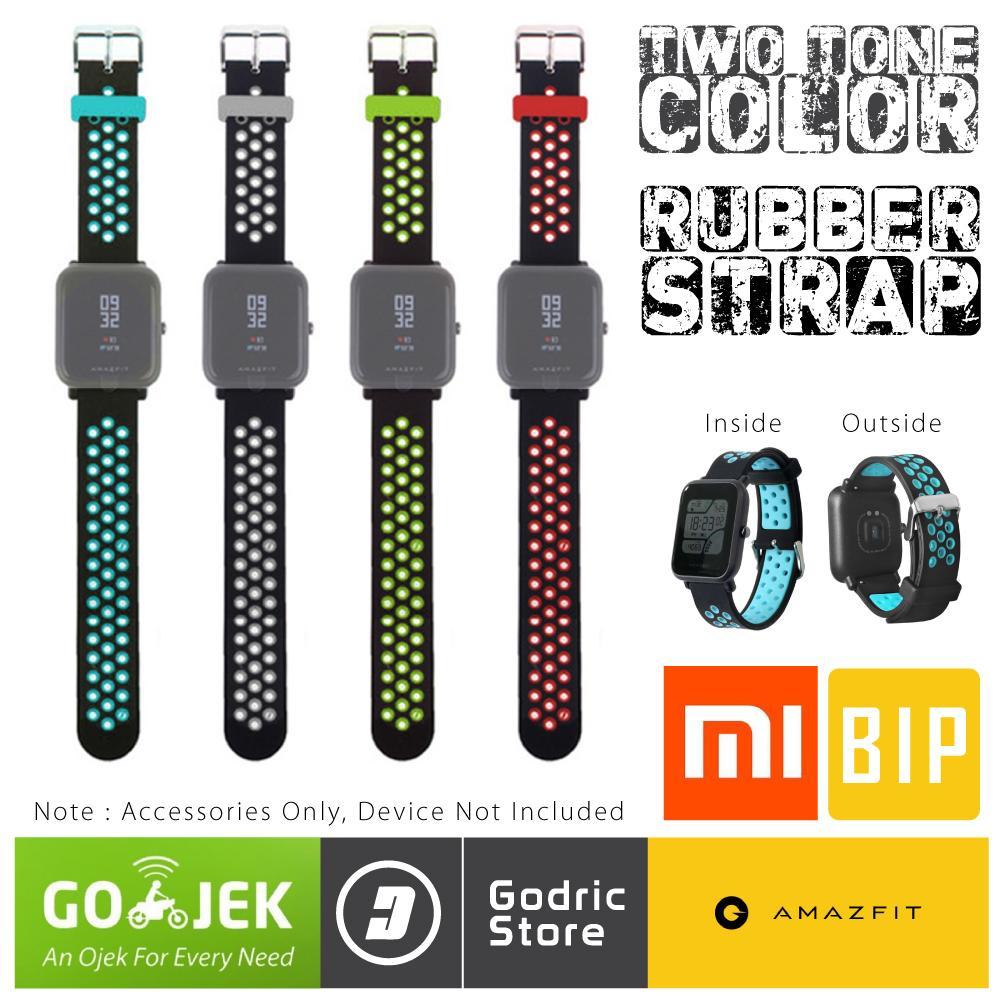 Godric Silikon Xiaomi Huami Amazfit BIP / LITE / YOUTH Silicone Strap 2-Tone Colors 20MM Silicon Rubber Sport