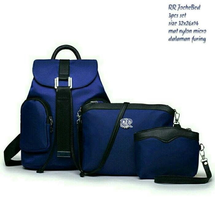 Promo Backpack ransel fashion set jochebed 4 in 1 Buat Kuliah - hhmR1r