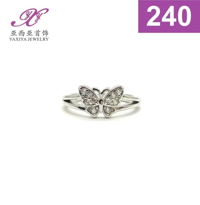 Cincin Anak Kupu Permata Emas Putih Perhiasan Imitasi  242