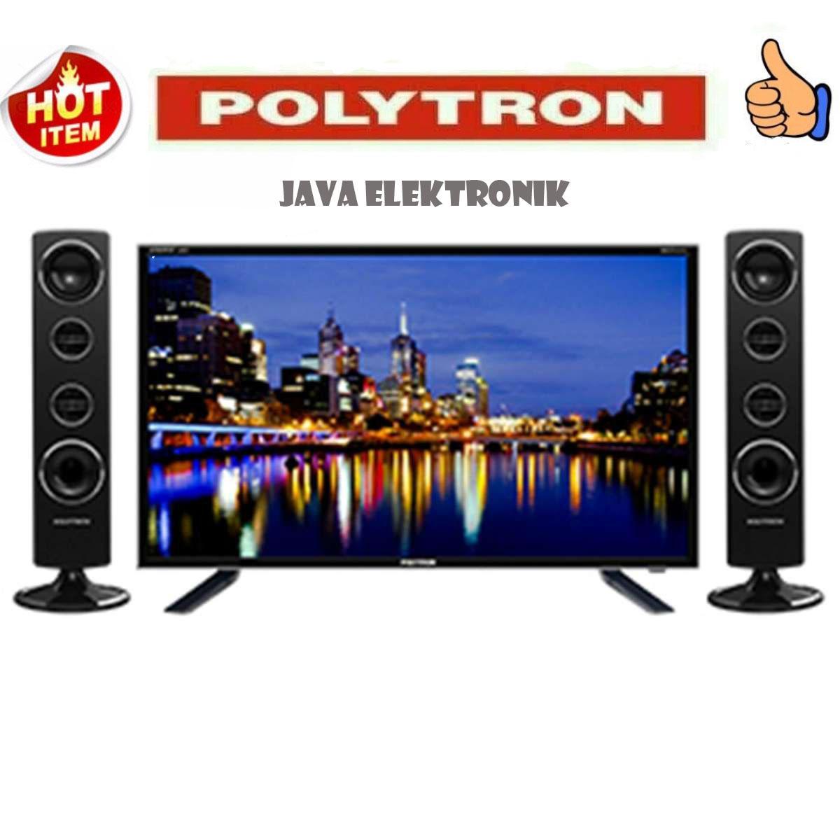 Polytron PLD32T1500 Tower CinemaX TV LED - Hitam [32 Inch] garansi 5 tahun garansi resmi