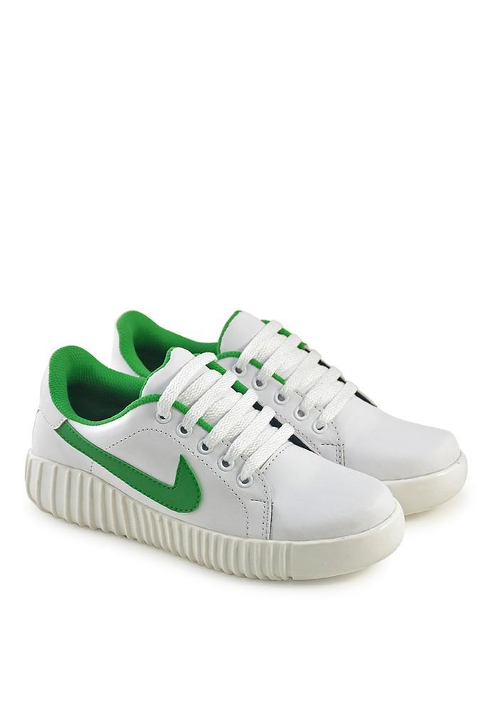 Promo Sepatu wanita terbaru model Nike putih hijau - Sekolah kuliah JV asli Fashion