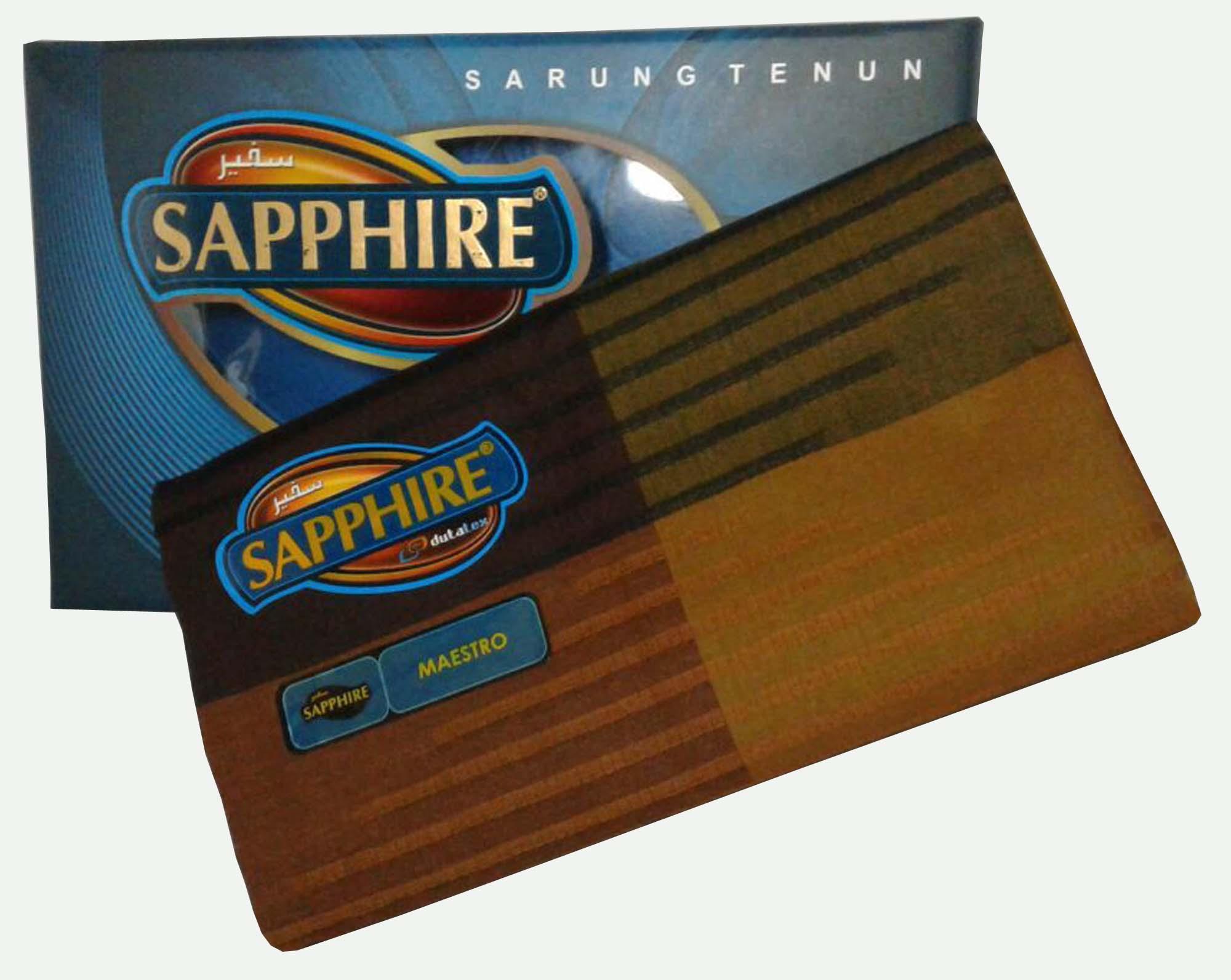 Diky Noval/ Sarung Pria/ Sarung Sapphire/ Sarung Tenun/ Sarung 100% Indonesia/ Motif Maestro
