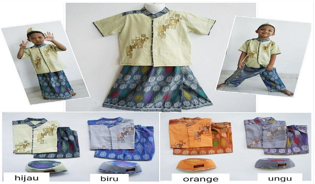 CBL-009 Usia 2 3 4 5 6 Tahun Koko Bordir Sarung Celana Anak