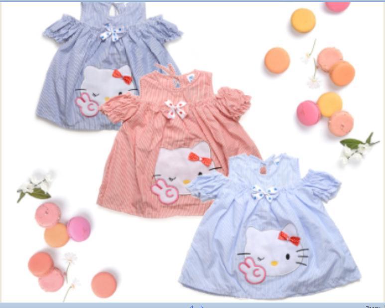 Hello Kitty TOP baju atasan anak perempuan cewek SABRINA blouse GROSIR