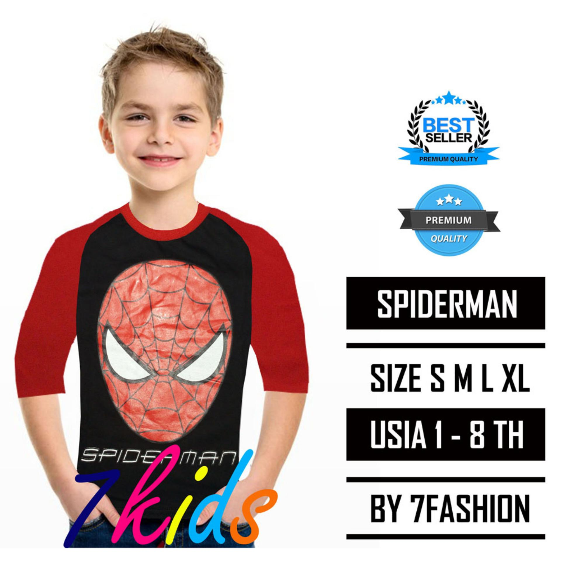 7KIDS - KAOS ANAK KARAKTER SPIDERMAN