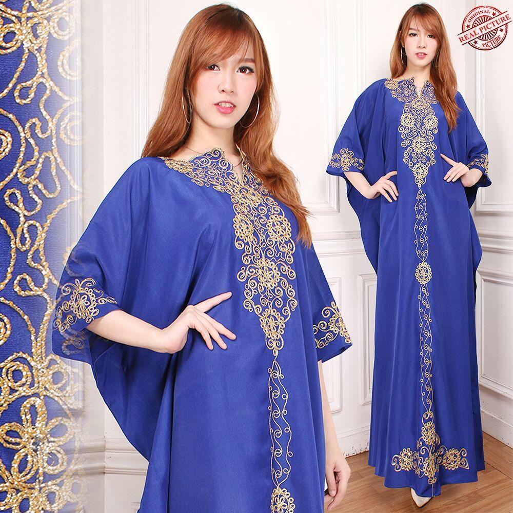 SB Collection Dress Maxi Yani Longdress Kaftan Gamis Jumbo Batik Wanita
