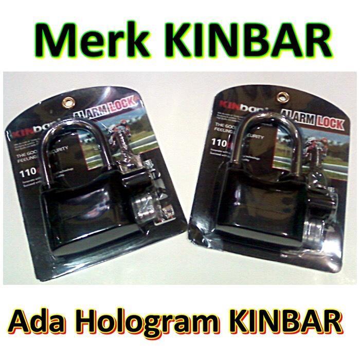 gembok alarm merk KINBAR