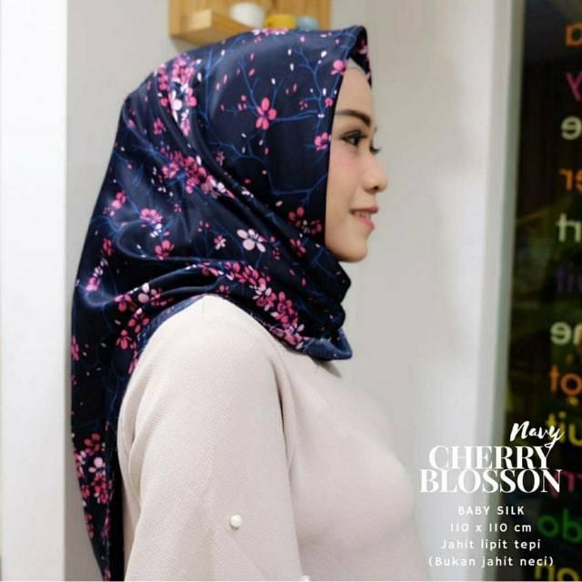 El Hijab Jilbab Segi Empat Maxmara Premium Cherry- Kerudung Jilbab Segi Empat Fashion Muslim Hijab Jilbab Segiempat Syari Khimar Motif Pashmina Motif  Hijab Modern Hijab Kekinian Hijab Daily Selebgram Hijab Pesta