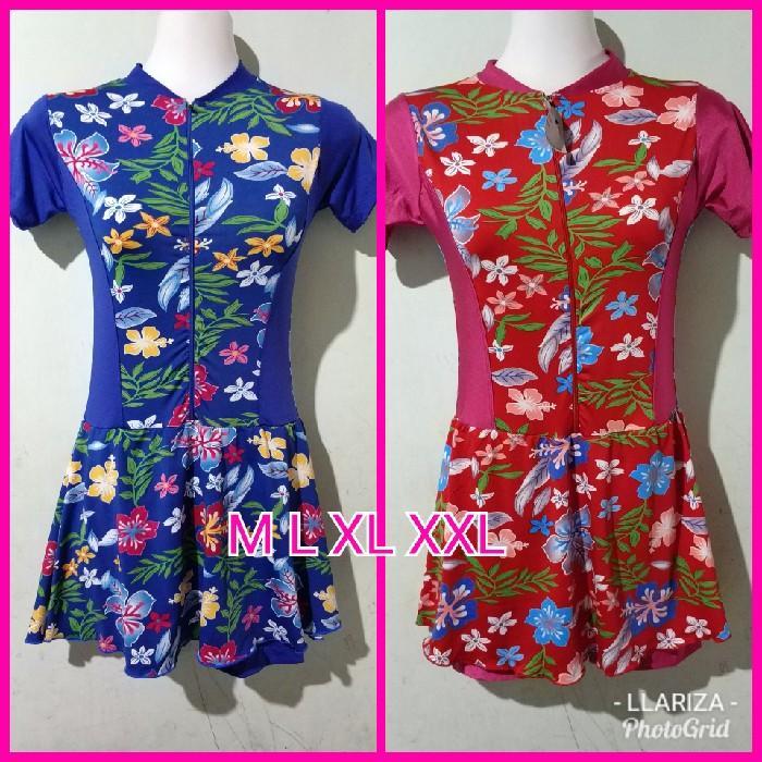 baju renang diving rok anak cewek perempuan SMP-SMA motif bunga - BvEv2L