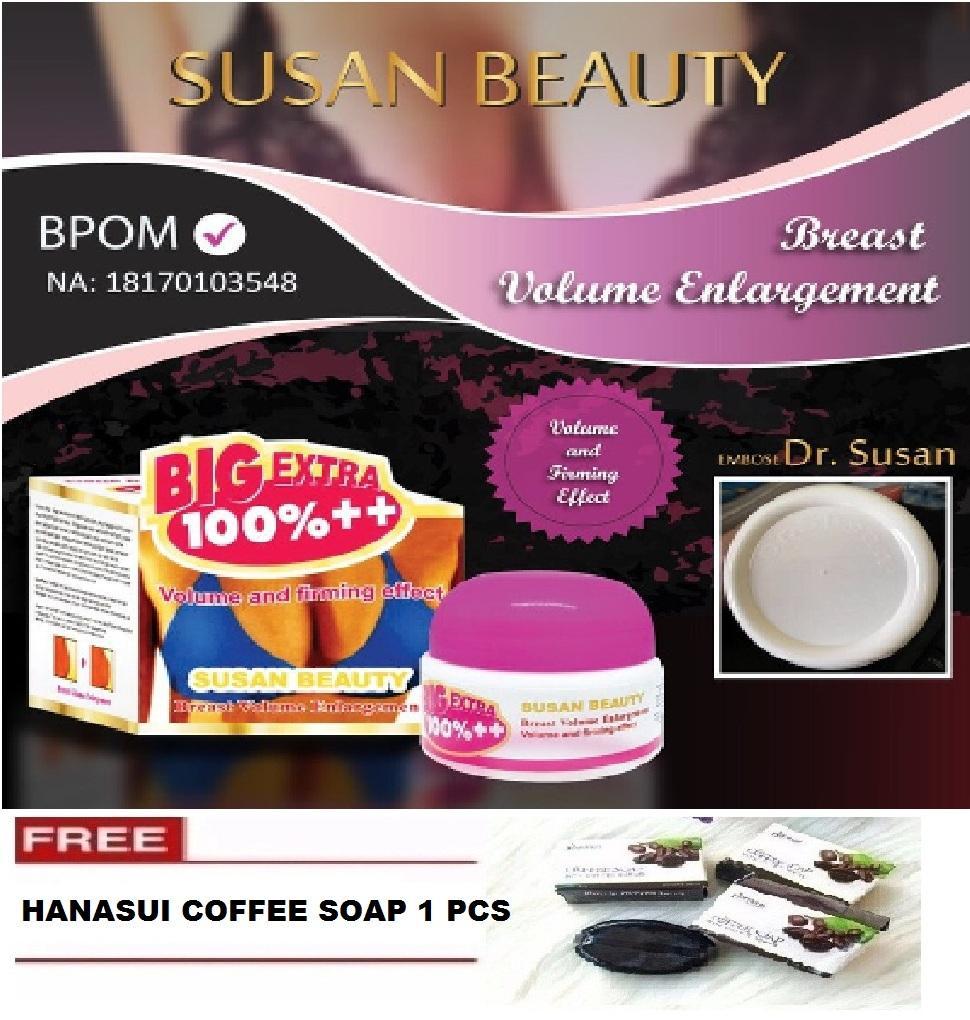 Dr Susan Breast Cream BPOM Original + GRATIS Hanasui Coffee Soap - 1 Pcs